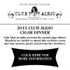 2015 Club Alejo Cigar Dinner